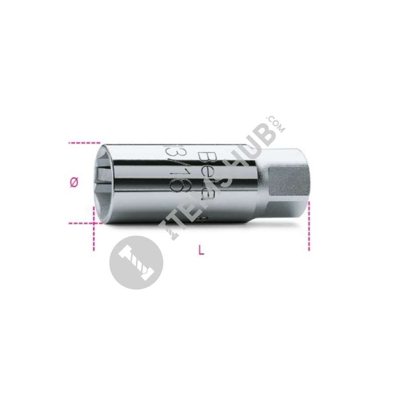 Beta 17.8Mm Sp.Plug Socket 3/8