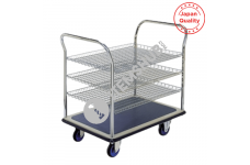 Prestar Hand Trolley NF-306 Triple Deck Dual-Handle Type