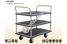 Prestar Hand Trolley, NF-305, Triple Deck Dual-Handle Type