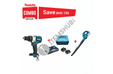 Makita Combo Offer Percussion Driver Drill 13mm with Cordless Blower and  BL1850B Lithium-Ion Battery Pack 18V 5Ah ( 2 Batteries + 1 Charger)