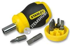 Stanley 0-66-357 Multibit Stubby Screwdriver Non-Ratcheting