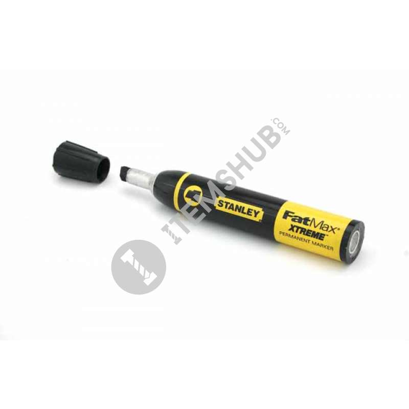 "Marker ""FatMax King Size"" black with a flat-tipped big Stanley 0-47-313 